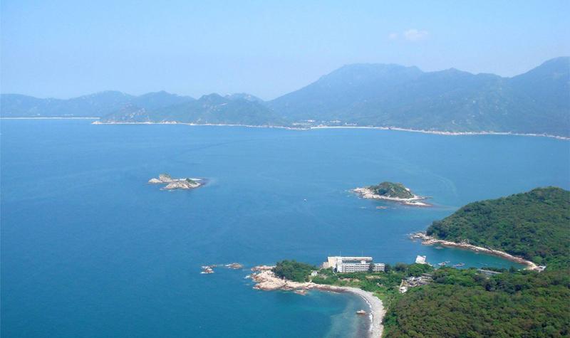 台山上下川岛