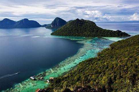 马来西亚沙巴仙本那波德加亚岛 曼达布安岛 珍珠岛 军舰岛潜水一日游