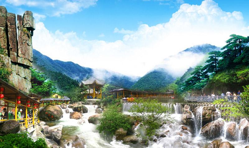 南京到浙西天目大峡谷龙井峡双人皮筏漂流、 大龙湾戏水纯玩二日
