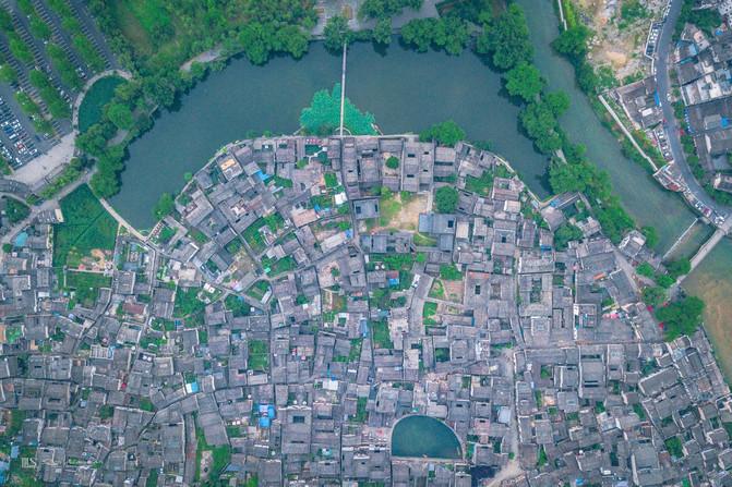 安徽宏村手绘平面图