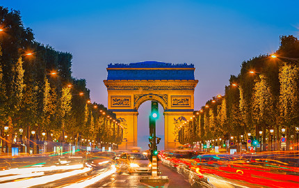法國巴黎塞納河游船+埃菲爾鐵塔二層+城市觀光巴士一日游【熱銷產品 中文語音講解器】