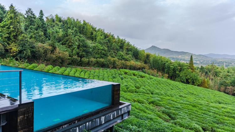 【美岕】在山与山之间,做一场关于森林的温泉梦   在山野间的无边泳池