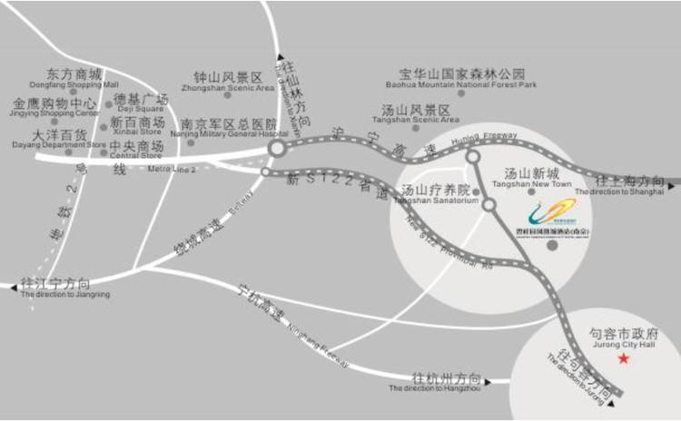 苏州河十八景手绘地图