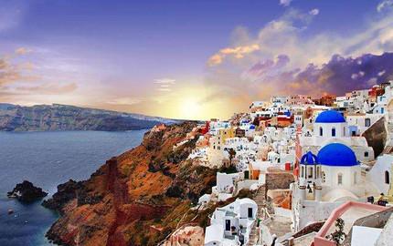 希臘 圣托里尼 尊享版 愛琴海日落環線(含浮潛和燒烤 酒店接送 )