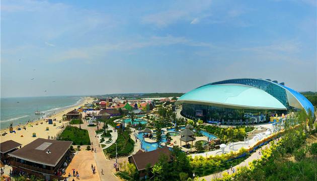 【黄金海岸】 南戴河渔岛海洋温泉>1日跟团游 滑沙滑草纯玩品质