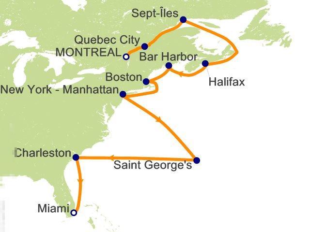 蒙特利尔岛地图