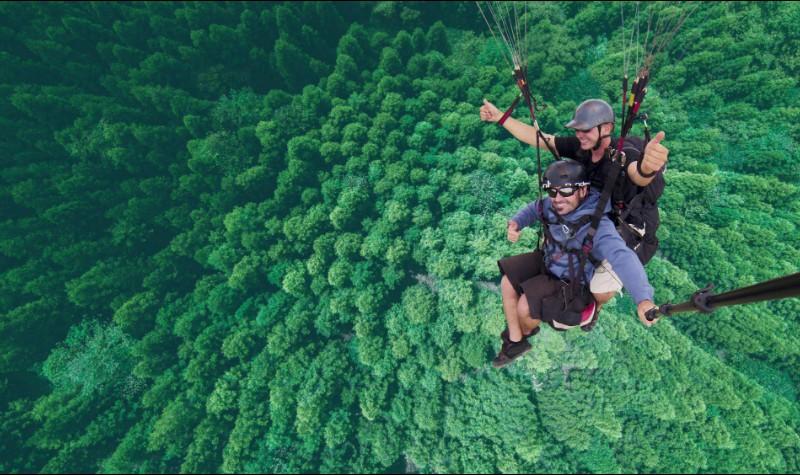 洪雅柳江古镇玉屏山国际滑翔伞基地