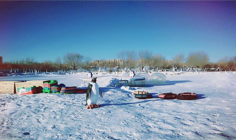 南湖湿地乐众冰雪世界