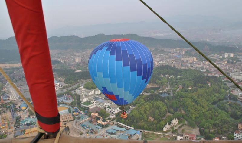 浙江横店热气球自由飞行