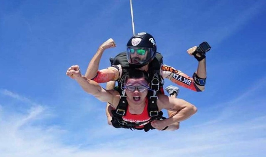 海南东方海景高空跳伞基地